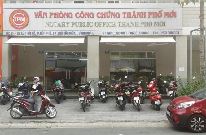 Văn phòng công chứng Thành Phố Mới
