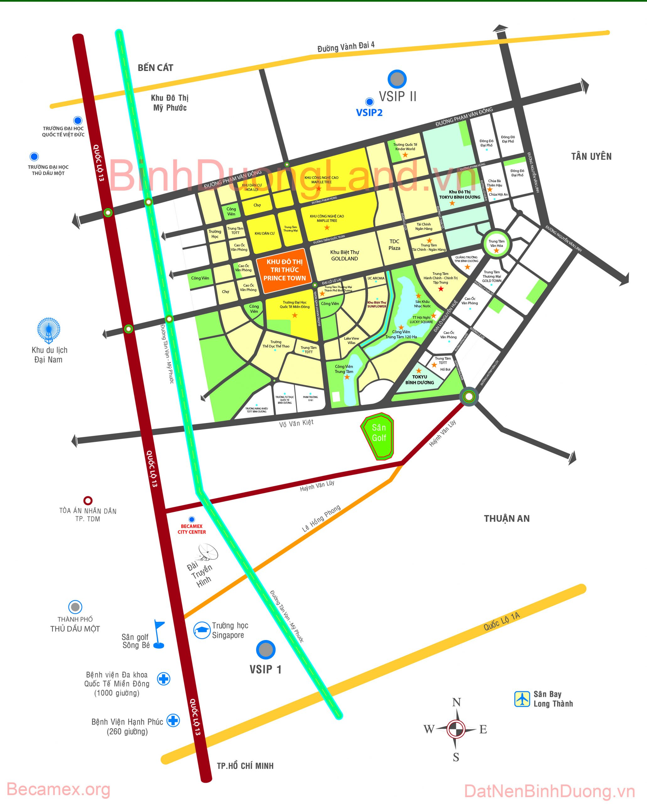 Ban Do Thanh Pho Moi Binh Duong scaled Bản đồ quy hoạch thành phố mới Bình Dương mới nhất hiện nay.