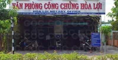 Văn phòng công chứng Hòa Lợi