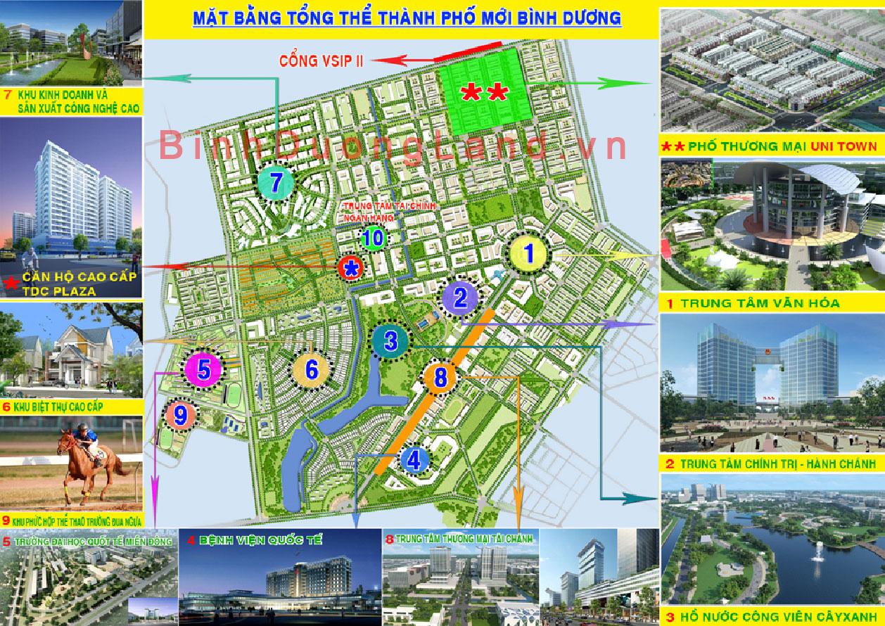 ban do thanh pho moi binh duong 2 Bản đồ quy hoạch thành phố mới Bình Dương mới nhất hiện nay.